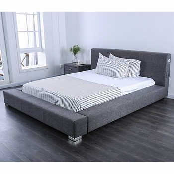 Tori Upholstered Low Profile Platform Bed In 2020 Leather King
