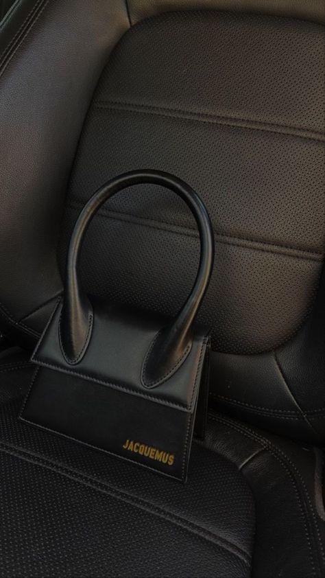 Jacquemus Bag, Black Luxury, Black And White Aesthetic, Cute Bags, Luxury Bags, Luxury Handbags, Mode Inspiration, Karl Lagerfeld, Fashion Bags