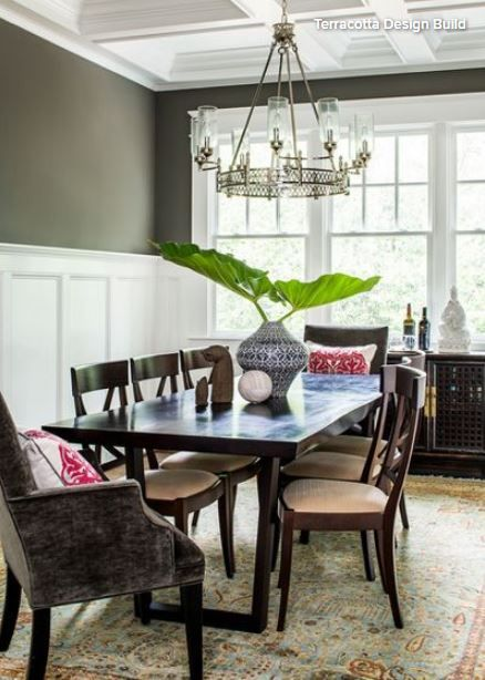 Dining Room Millwork Eclectic Dining Room Decor Home Decor