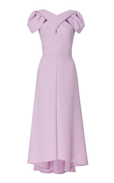 DELPOZO Asymmetric Cutout Crepe Dress