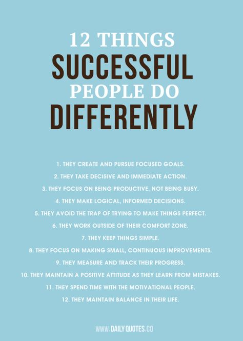 12 things successful people do differently. As always, take the best & leave the rest. #Personal Leadership #Women