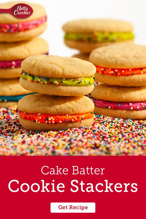 You can't go wrong with this easy cake batter cookie recipe. Pin now for your next cookie craving!