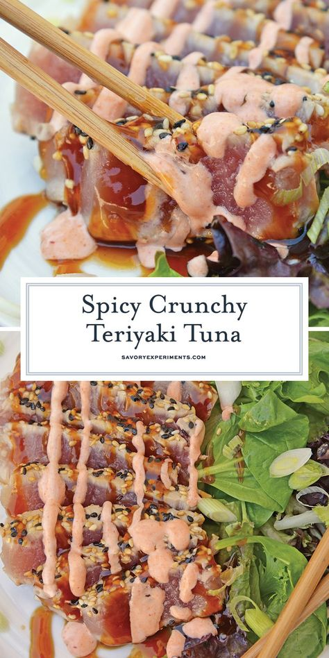This Teriyaki Tuna recipe brings a delicious and healthy meal to the table in just over 20 minutes! This ahi tuna recipe is a quick and easy meal! teriyakituna tunarecipes www savoryexperiments com is part of Ahi tuna recipe - Fish Recipes, Seafood Recipes, Asian Recipes, Dinner Recipes, Cooking Recipes, Healthy Recipes, Fresh Tuna Steak Recipes, Easy Tuna Recipes, Gastronomia