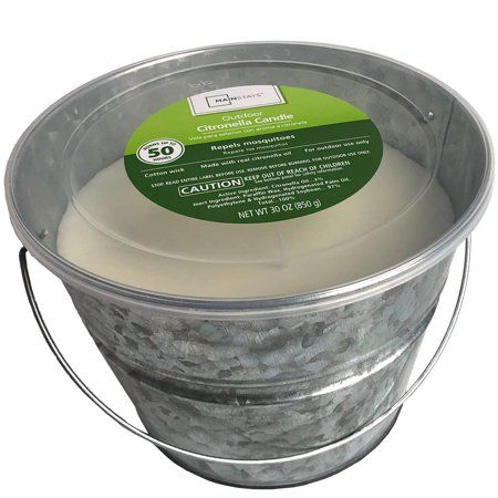 Household Essentials Citronella Candles Galvanized Buckets