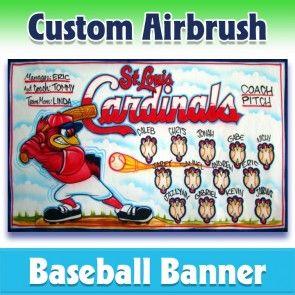 Baseball Banner Cardinals 1010 In 2020 Baseball Banner Baseball Team Banner Team Banner