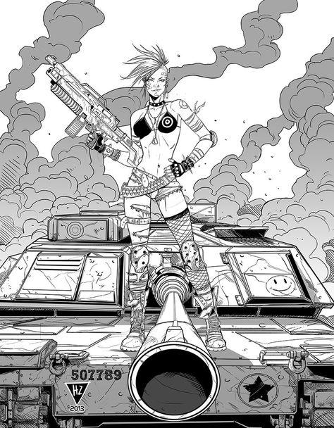 Tank Girl ink by HedwinZ89 on DeviantArt