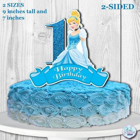 Miraculous Cinderella Cake Topper Cinderella Centerpiece Disney Princess Birthday Cards Printable Inklcafe Filternl