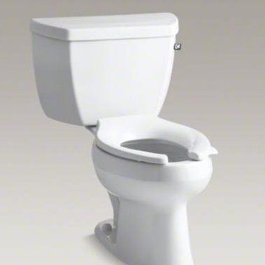 Kohler Wellworth 1 0 Gpf Water Efficient Elongated Two Piece Toilet Seat Not Included Toilet Cover Lock Contemporary Toilets