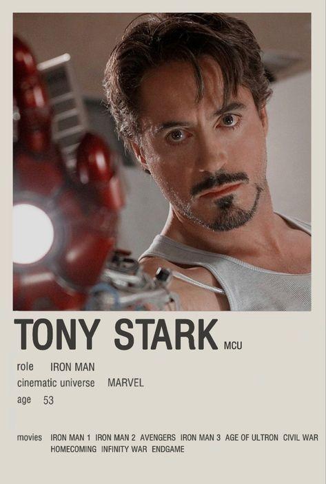 Tony stark minimalist character poster