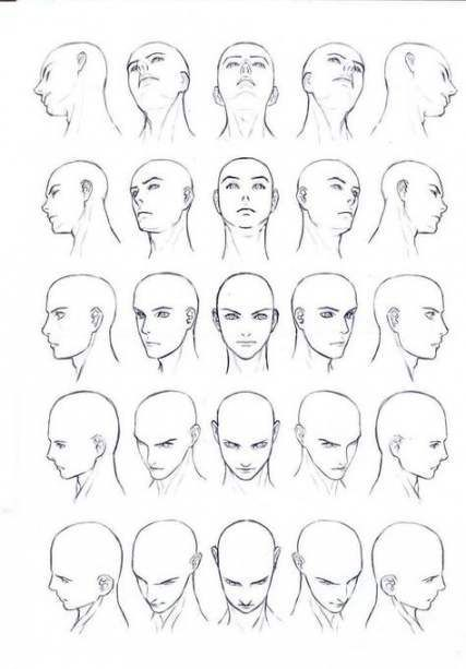 Drawing Reference Face Angles Anime 24 Ideas In 2020 Face Angles Body Drawing Human Body Drawing