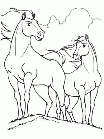 malvorlage pferd wild | amorphi