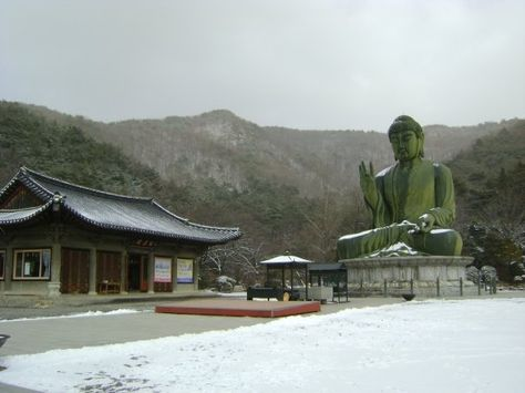 Gakwonsa Temple in Cheonan, South Korea.  Fun travel story about being stuck up a mountain