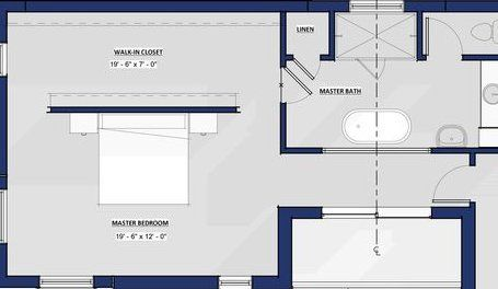 Pin By Pernille Jakobsen On Hus In 2020 Closet Behind Bed Master Suite Floor Plan Master Bedroom Layout