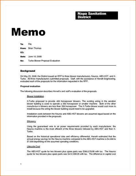 business memo example contract template sample memorandum Home - memo formats