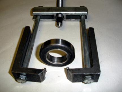 homemade wheel bearing puller. long-reach bearing puller by the gears -- homemade long-reach intended wheel