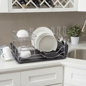 Home Basics Countertop Dish Rack Wayfair Dish Racks Home