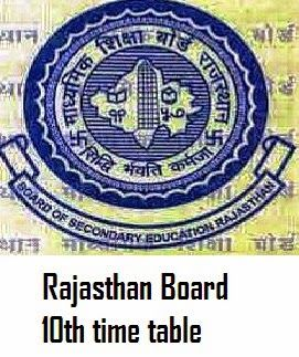Rajasthan Board 10th Supplementary Time Table 2016 RBSE Supply Permission Letter Admit Card