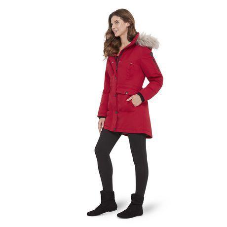 7bce725d5 Canadiana Women's Parka Jacket with Faux Fur Trim Hood<br> | Walmart ...