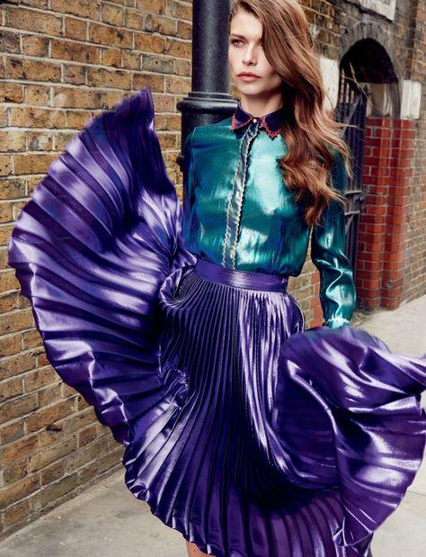 Louise Pederson by Lado Alexi for Harper's Bazaar Russia November 2015 GUCCI