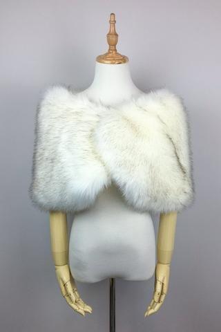 b40dbf85748e8 Light Gray Wedding Bridal Fur Stole Wrap Shawl Cape (LilianLGry01 ...