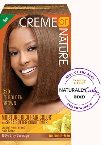 Light Golden Brown Creme Of Nature Rich Hair Color Hair Color Shea Butter