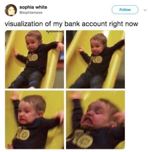 The truth is hard to swallow -- luckily, we have laughter to help us cope with it! Enjoy these painfully true, but funny, tweets about what it's like to be a real person in the real world. May we all survive until the next paycheck! #broke #sadbuttrue #sad #funny #pain #moneyproblems #money #lol #tweets #twitter #funnytweets #funnytwitter