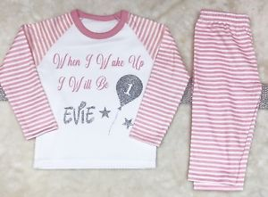 Flower Girl Pageboy Wedding Pyjamas any name ages up to 8 years