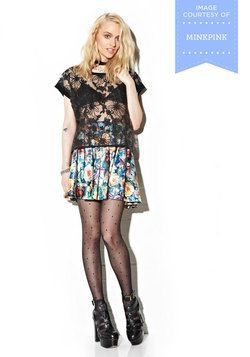 Auroral Floral Skirt, #ModCloth