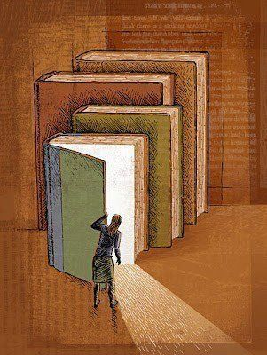 Turn the page, always, in books as in life. (https://www.pinterest.com/pin/101260691604947496/)  #books #readlax #life #knowle… | Reading art, Book art, Book drawing