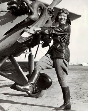 Katherine Sui Fun Cheung, the first Chinese-American woman to be a licensed pilot (1932),