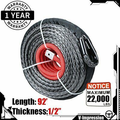 Sponsored Ebay 1 2 92 Synthetic Winch Line Rope Cable 22000 Lbs Heat Guard Atv Utv Truck In 2020 Synthetic Winch Rope Winch Rope Ebay