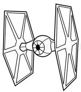 Star Wars First Order Tie Coloring Page Pages Sketch Coloring Page