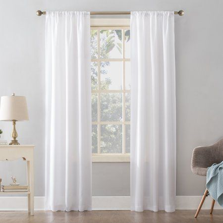 Mainstays Textured Solid Curtain Panel White In 2020 Panel