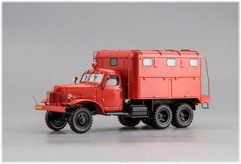 360 pcs 1:43 ZIL 157 ACU-10 Fire Truck 1991 Klimovo DiP Models 115731 L.E