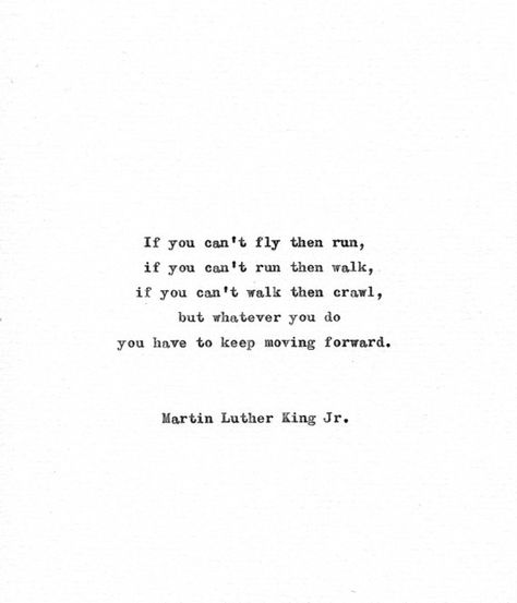 Martin Luther King Vintage Typewriter Quote 'Keep moving forward' Inspirational American History Mot