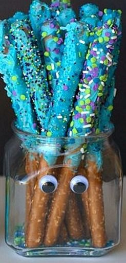 Monsters University - Dipped Pretzel Rods, Chocolate Dipped Pretzels