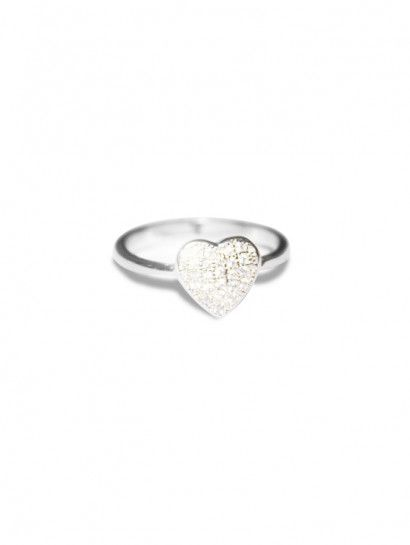 خاتم فضة عيار 925 خاتم فضة ايطالى قلب Heart Ring Silver Rings Jewelry