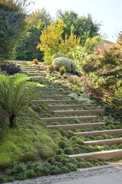 Landscape Stairs On A Hill Amazing Sloped Garden Landscape Stairs Landscape Steps