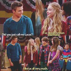 #GirlMeetsWorld ( a moment between Maya and Lucas)