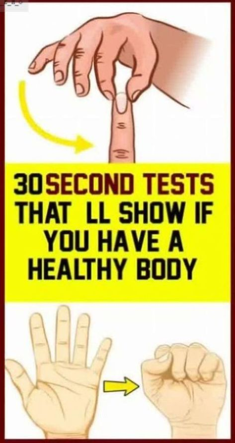 You Can Know If You�re Healthy In Just 30 Seconds!