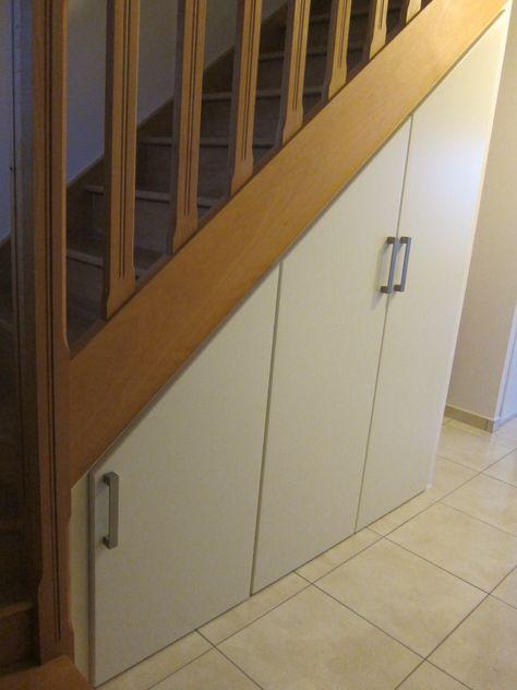 Vue Des Portes Battantes Sous Escalier Modele Declic Battant De Chez Lapeyre Rangement Sous Escalier Amenagement Sous Escalier Sous Escalier