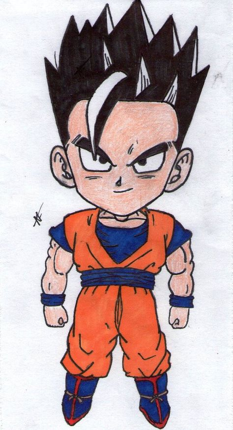 dragon ball z Gohan chibi by thesexychurro