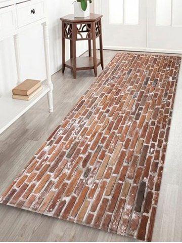 Brick Wall Printed Decorative Floor Mat Floor Rugs Floor Decor Wall Patterns