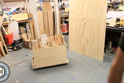 Scrap Cart From A Single Plywood Sheet W Plans In 2020 Plywood Sheets Woodworking Storage Scrap Material