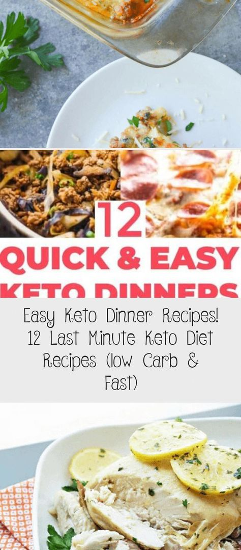 12 Easy & Fast Keto Dinner Recipes! Looking for low carb dinner meals you can enjoy on the ketogenic diet? Whether you're looking for chicken, veggies, beef, shrimp, pork or easy keto casseroles you'll find a quick & easy keto dinner recipe that's ready to eat in 30 minutes or less! Save these keto dinner recipes that make losing weight on a low carb diet with a family easy! #keto #lowcarb #ketorecipes #ketogenicdietMenu #ketogenicdietStarbucks #ketogenicd #LowCarbDietRecipesMealPlan7Days