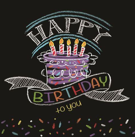 16 Chalk Birthday Happy Birthday Party Tableware Lunch Dinner Napkins #CreativeConverting #BirthdayAdult