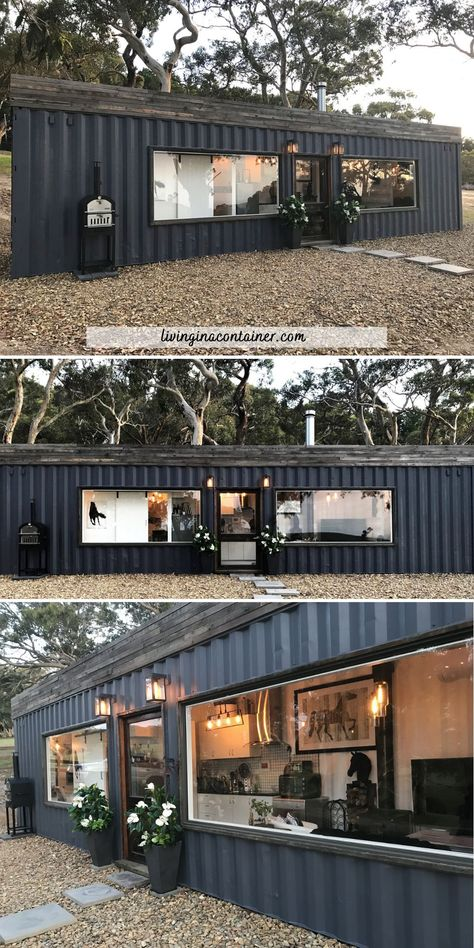 Shipping Container Home Designs, Container House Plans, Container House Design, Tiny House Design, Shipping Container Cabin, Shipping Containers, Tiny House Living, Tiny House Cabin, Tiny House Plans