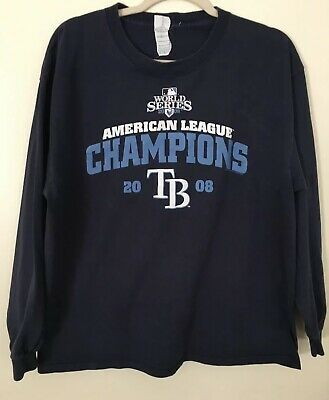 Mlb Tampa Bay Rays 2008 World Series Am League Champions T Shirt Size Xl Navy Fashion Clothing Shoes Accessorie In 2020 Long Sleeve Tshirt Men Shirts Mens Outfits