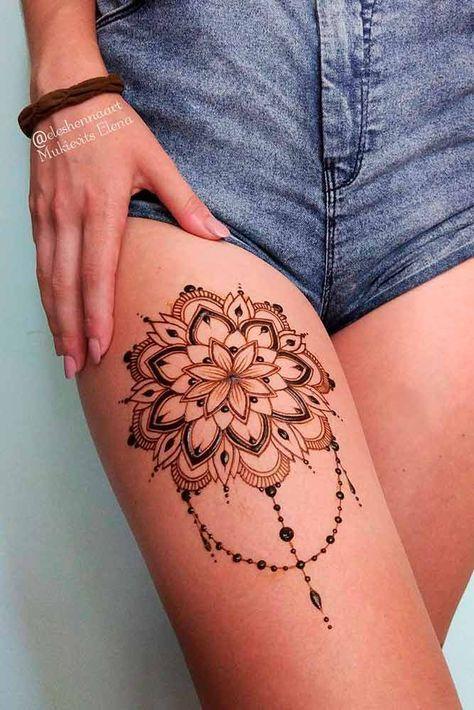 Beautiful Henna Tattoo Designs And Useful Info About It Henna Tattoo Designs Thigh Henna Leg Henna
