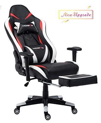 Morfan Gaming Chair With Footrest Ergonomic High Back Recliner Swivel Office Computer Desk Chair Including Mas Gaming Chair Office Chair High Back Office Chair